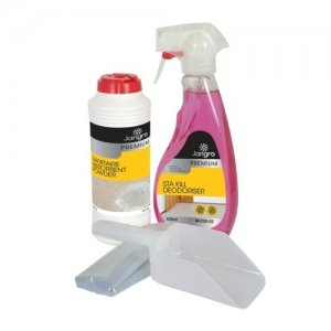 Emergency Spillage Kit for Body Fluids (525ml Sta Kill, 240g Sanitaire, bags, gloves, scoop)