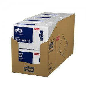 Poppies White Napkins 30cm 1 Ply White 5000 Case