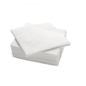 Poppies 40cm White Airlaid Napkins 500 case