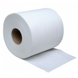 Jangro White Embossed Centrefeed Roll 2ply