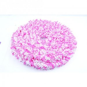 Hard Floor Mopping Bonnet, Pink/white