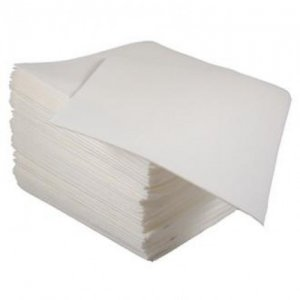Poppies 40cm 3 Ply Non Fold White Napkins 1000 Case